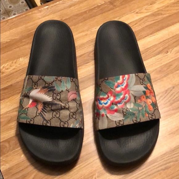 5e4a97dd5af Men s Gucci Tian Slides (Size 13). M 5ca3f97bffc2d43de8092136
